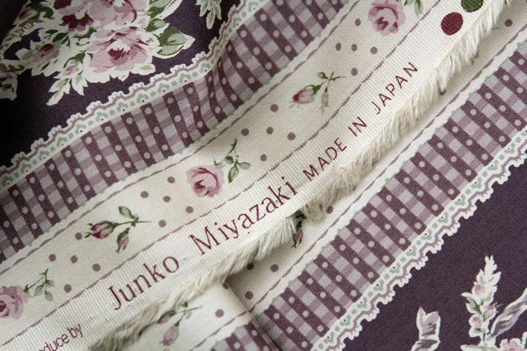 日本YUWA进口名师布料 宫崎顺子 条纹玫瑰