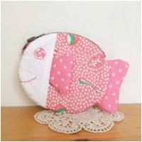 鱼型零钱包-粉红